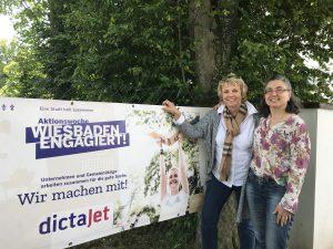 """Alexandra und Fabienne koordinieren unsere Aktivitäten bei """"Wiesbaden engagiert""""."""